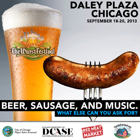 Chicago Wurst Festival graphic