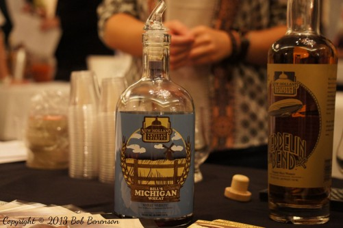 "New Holland Artisan Spirits of Holland, Mich., featured its ""Bill's Michigan Wheat"" — made with local grain — at the Independent Spirits Expo."