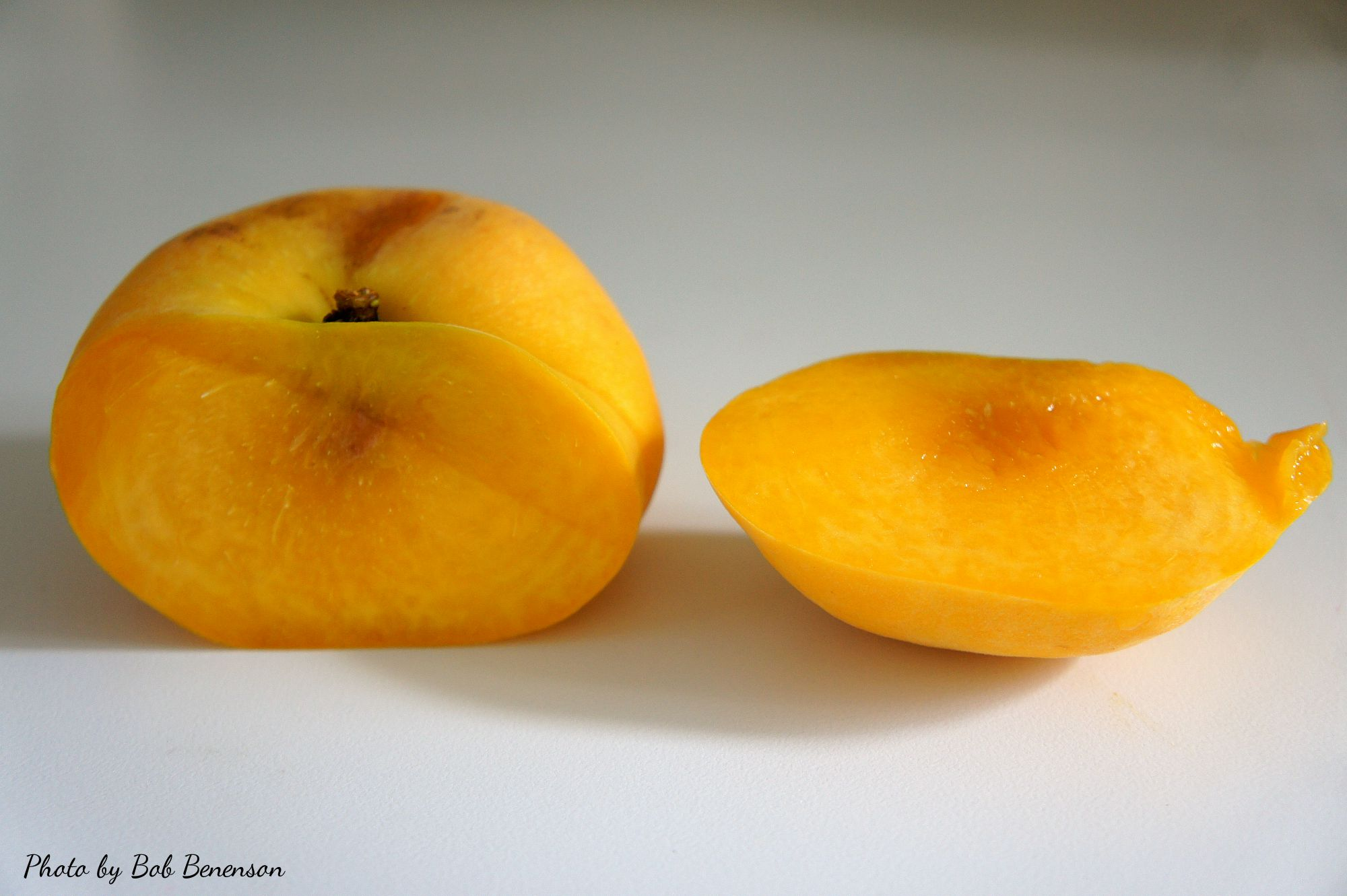 Doughnut peach, also known as a Saturn peach