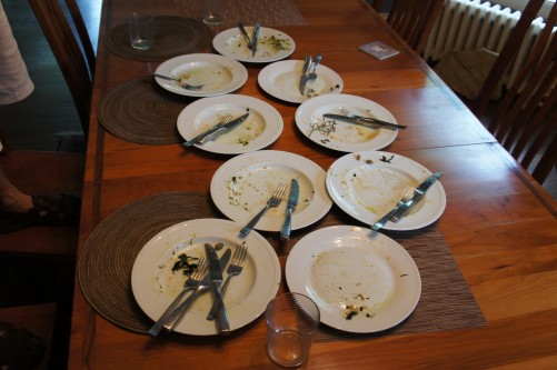 """Good food makes it easy to be in the """"clean plate club."""" Photo by Bob Benenson."""
