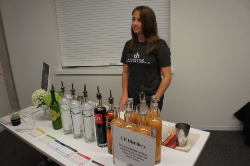 CH, a recently opened distillery in Chicago, was among the vendors who represented at the FamilyFarmed.org event