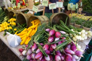 Indiana's Green Acres Farm stand at Green City Market in Chicago