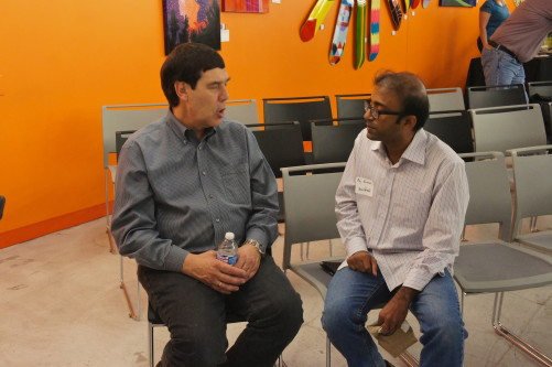 Raj Karmani of Zero Percent (right) and Michael Bashaw of Whole Foods Market