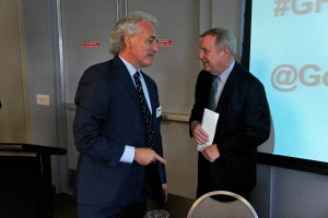 Sen. Durbin and Jim Slama at Good Food Festival & Conference
