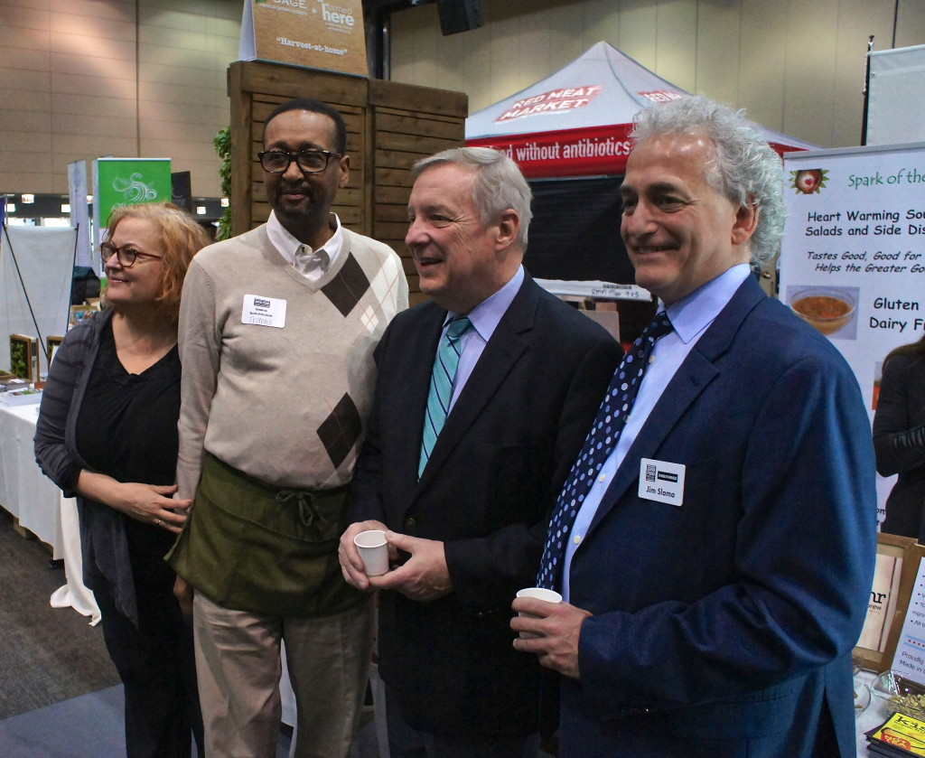 Sen. Richard J. Durbin visit to the Good Food Festival & Conference