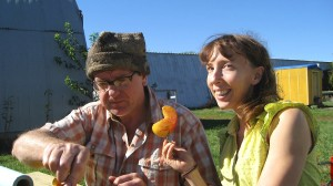 Julia and Todd McDonald of Peasants' Plot CSA farm in Manteno, Illinois
