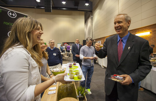 Gov. Bruce Rauner visits Good Food Festival & Conference