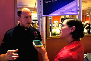 Dave Beran and Monica Eng at 2015 James Beard Awards