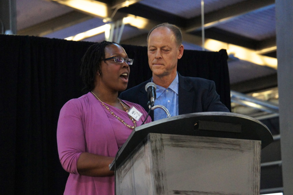 Anika Grose of Detroit's Eastern Market and Walter Robb of Whole Foods Market