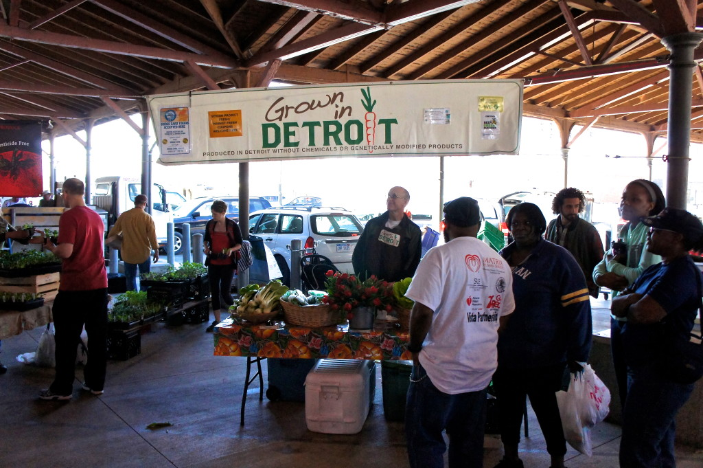 Grown in Detroit stand at Eastern Market