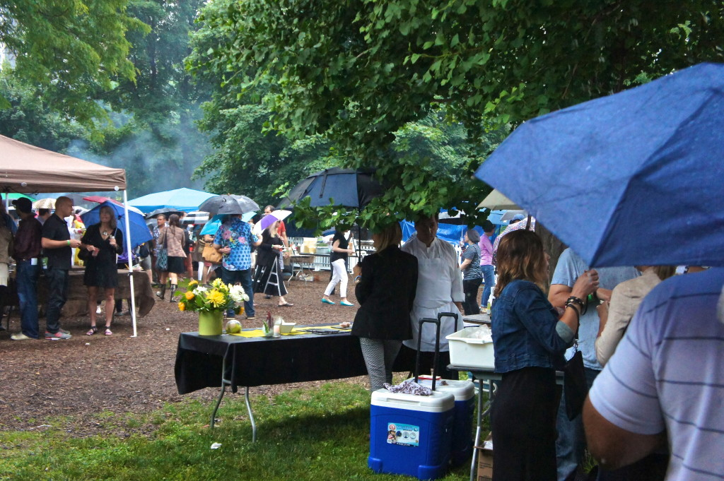 Rain at the Green City Market Chef BBQ