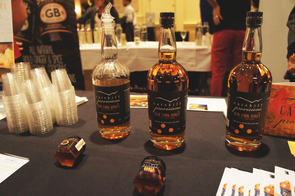 Catskills Provisions of Long Eddy, New York, touts its use of homestate honey in the labels of its whiskey bottles.