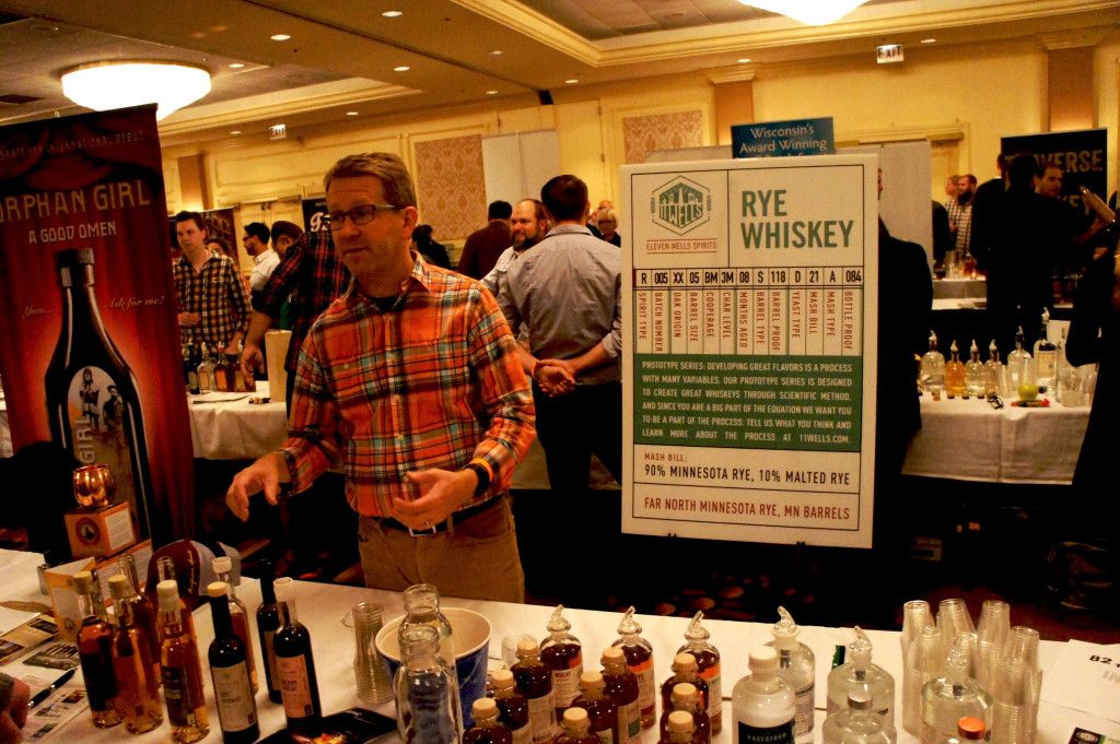 The year-old Eleven Wells Spirits Company of St. Paul, Minnesota makes a 100 percent rye whiskey that is made from grain grown in the northern part of the state.