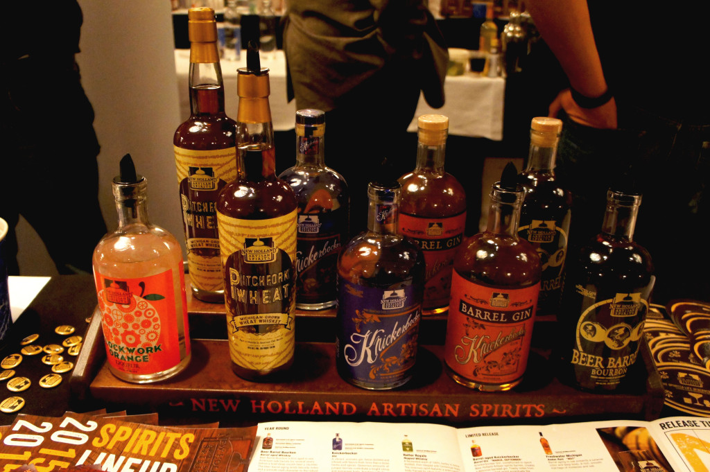 Local ingredients used by New Holland of Holland, Michigan, include wheat, grown in its home state, that goes into its Pitchfork Wheat Whiskey.