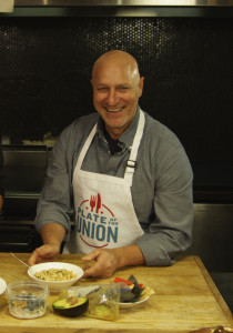 Well-known chefs Tom Colicchio (above) and Sam Talbot (right) are among the leaders of the Plate of the Union campaign.