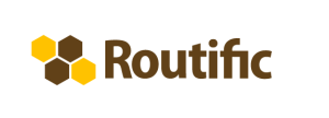 The logo of the Routific delivery route optimization company.