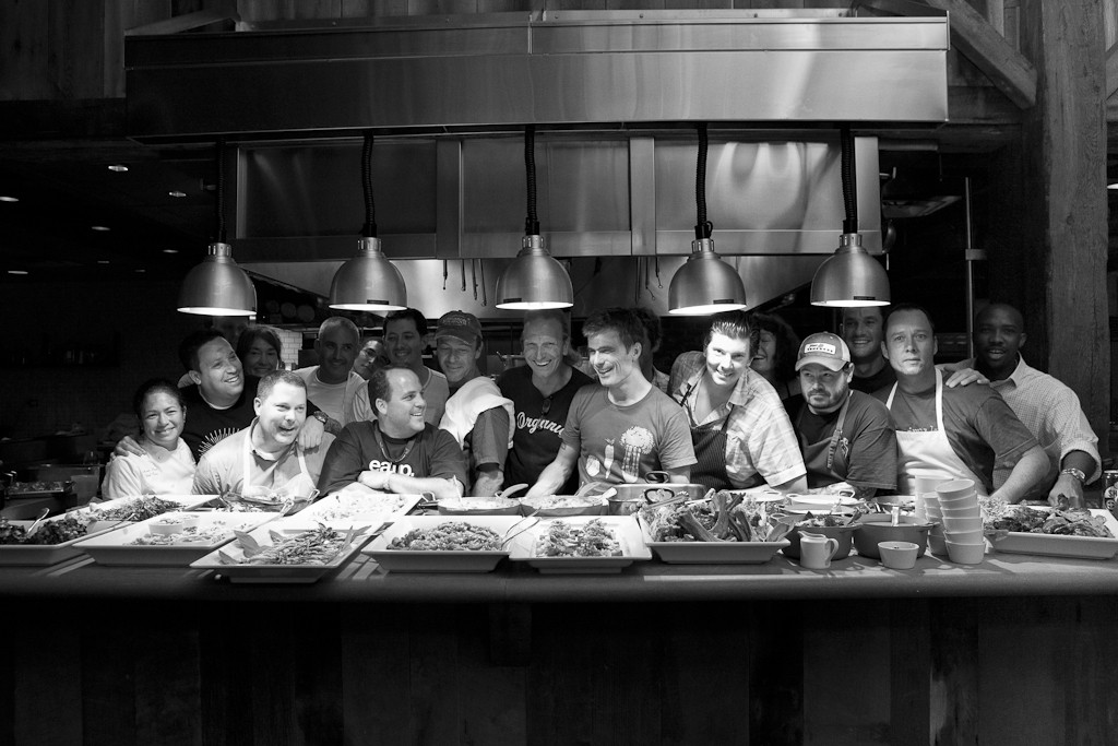 The 15 participants in the pilot James Beard Foundation Chefs Boot Camp for Policy & Change — which took place in 2012 at Blackberry Farm in Walland, Tennessee — posed for a group photo. Photo: James Beard Foundation.