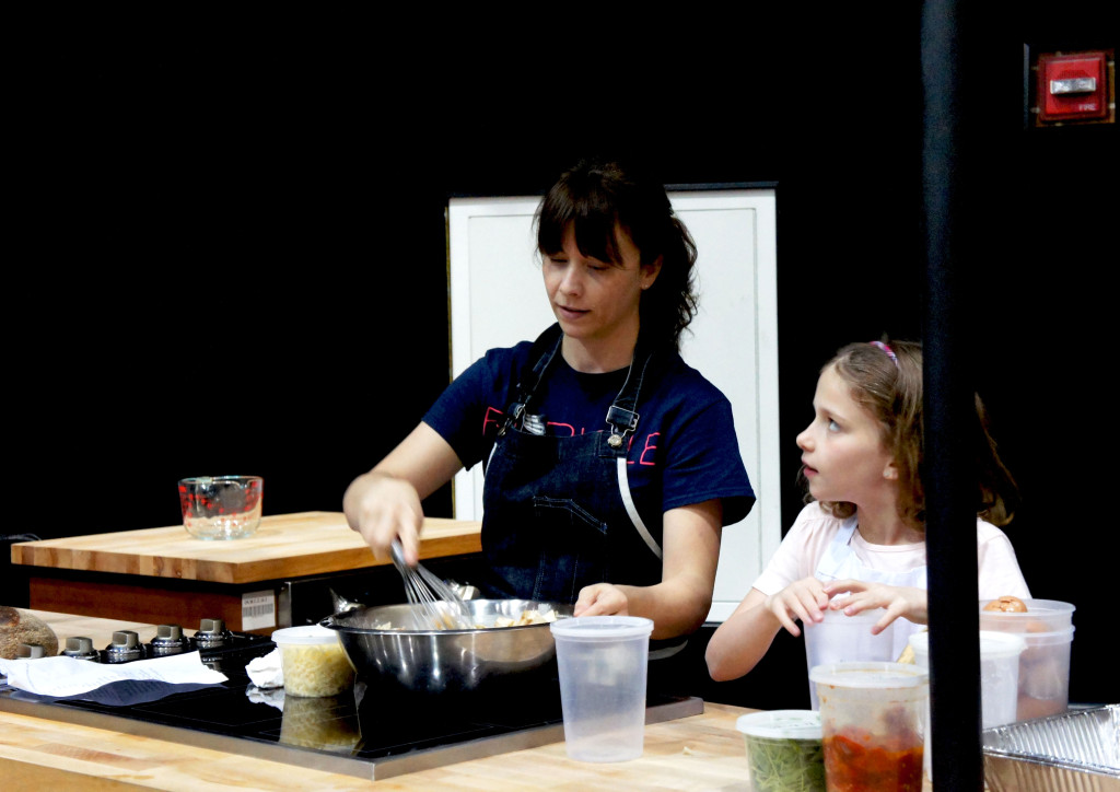 Sandra Holl of Chicago's Floriole bakery and restaurant had some youthful assistance during her baking demo at the Good Food Festival. Holl received the Jean Banchet Award — Chicago's top culinary honor — as best baker at a ceremony in January.