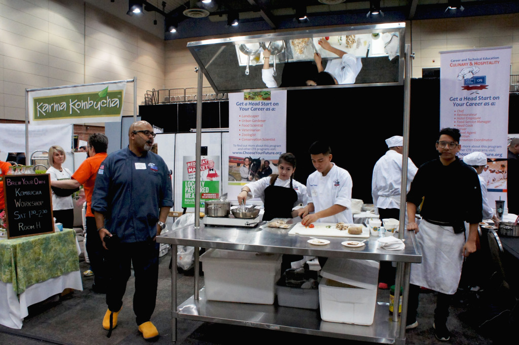 Students in the Chicago Public Schools' Culinary & Hospitality program conducted cooking demos and sampling at the Good Food Festival.