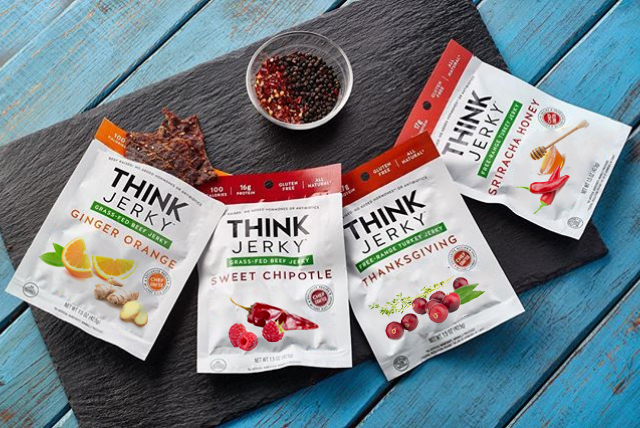 Think Jerky currently comes in four flavors, none of which likely was ever before associated with jerky.