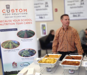 The first product with local ingredients that Louisville-based processor Custom Food Solutions developed was a cheesy chicken stew with Kentucky farm-direct sweet potatoes and butternut squash. Credit: City of Louisville