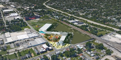 The West Louisville Food Port is a 24-acre redevelopment project to support and build local and regional food businesses and provide neighborhood employment and opportunity. Credit: OMA design company