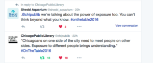 Screen Shot of Chicago Public Library tweet