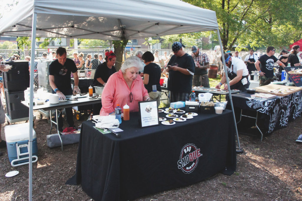 Ina Pinckney at Green City Market Chef BBQ