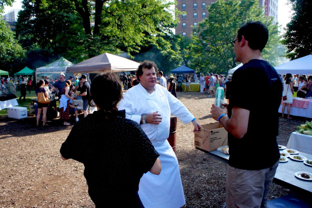 Michael Kornick at Green City Market Chef BBQ