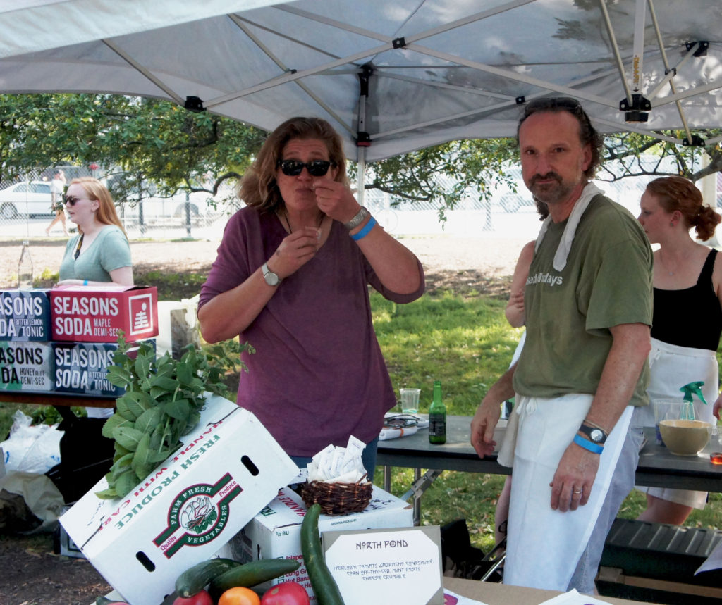 Bruce Sherman and Tracey Vowell at Green City Market Chef BBQ