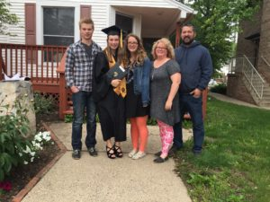 Kara Gunthorp and her family celebrated her graduation from Purdue University in May. She began fulltime work in sales at Gunthorp Farms immediately after. Photo provided by Kara Gunthorp.