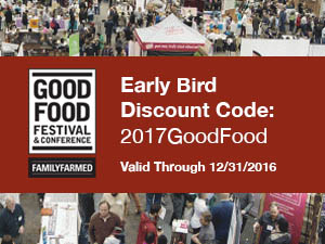 Early Bird Registration Code 2017GoodFood