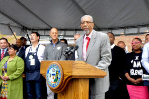 Longtime Congressman Bobby Rush recalled the days when 63rd and Halsted — the hub of Chicago's Englewood community — was a major commercial hub.