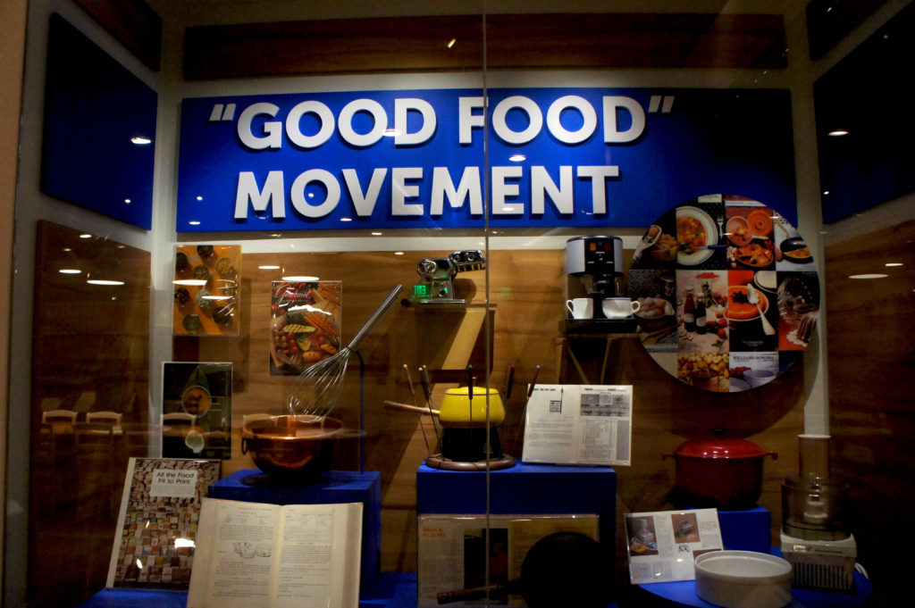 The extensive Food in America section at the Smithsonian Institution's Museum of American History includes an exhibit with words familiar to Rick Bayless and FamilyFarmed: Good Food movement. The Food section, the permanent home of the late Julia Child's famous kitchen, now includes a showcase of artifacts from Bayless' culinary career.
