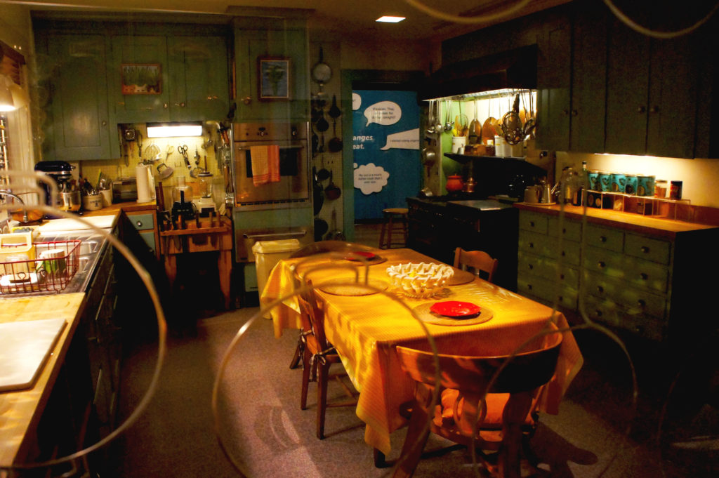Before her death in 2004, Julia Child donated her kitchen — where her famed cooking shows were produced — to the Smithsonian's Museum of American History, where it is displayed in the section on food in the United States.