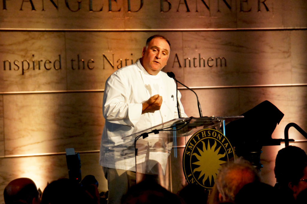 Jose Andres — the Spanish-born chef best known for Washington, D.C., mainstays such as Jaleo, Minibar and Oyamel — spoke at the Julia Child Awards ceremony about food's role in the American and immigrant experience.
