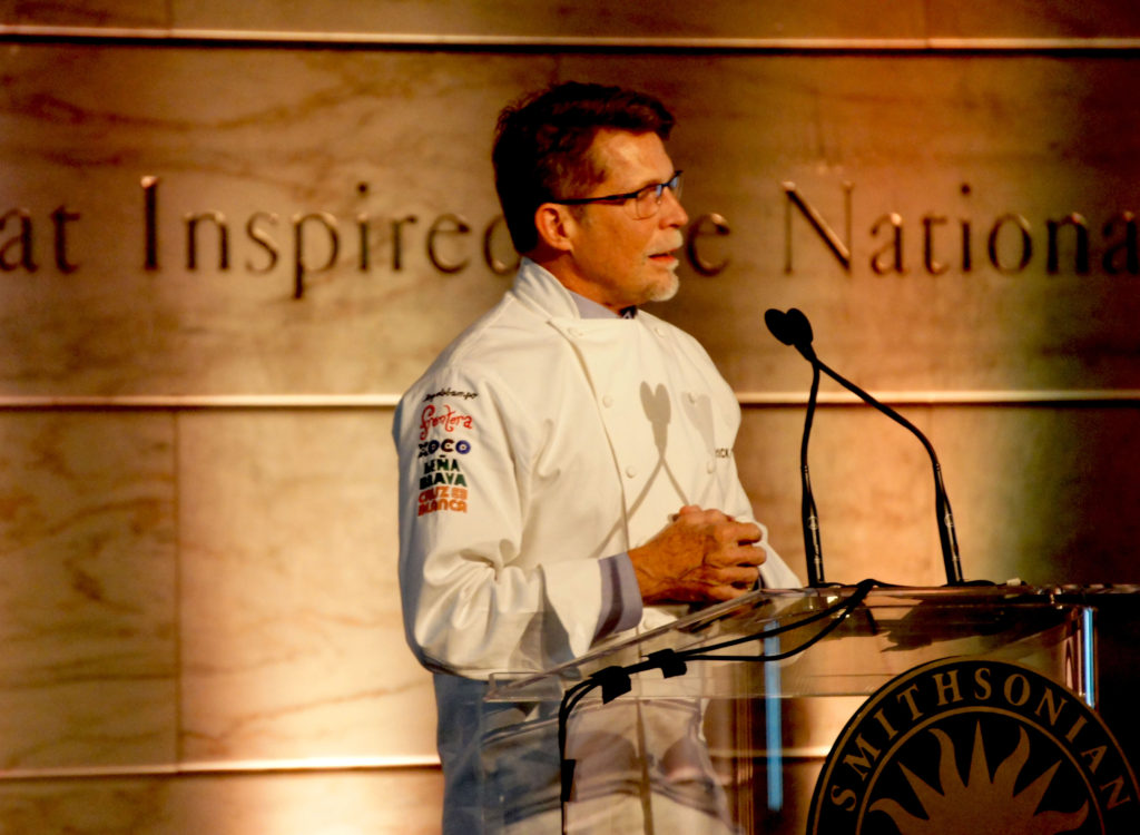 Rick Bayless — the Chicago chef who popularized regional Mexican cuisine in the United States through his restaurants, cooking shows and books — accepted the second Julia Child Foundation Award on Oct. 27. Bayless' gracious acceptance speech focused mostly on Julia Child, the pioneering TV chef and cookbook author, who he credits for inspiring his career.
