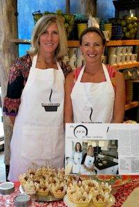 Meg Barnhart and Jane McKay of the zen of slow cooking at their first sampling event.
